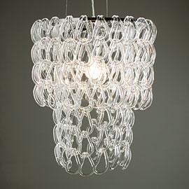 Glass link chandelier  $ 299 www.zgallerie.com