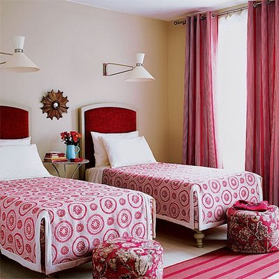 twin red beds blog