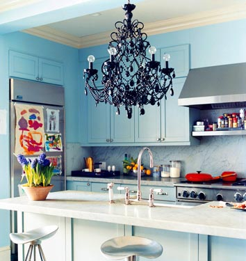 blue domino kitchen