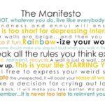 The MANIFESTO.