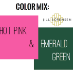 Great color mix -Hot Pink & Emerald