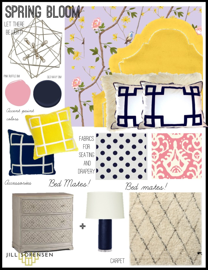 Bedroom design idea-Jill Sorensen-Spring Bloom