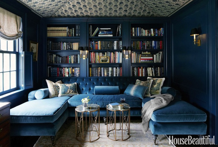 2blue-velevet-sectional-navy-blue-walls-house-beautiful