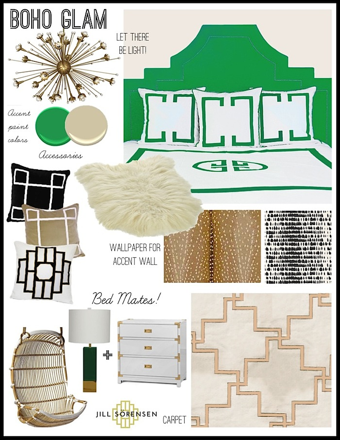 BohoGlamBedroom designidea-JillsorensenLifestyle