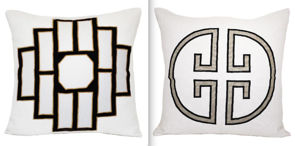 Jill Sorensen Lifestyel-Mark monogram pillows