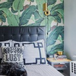Black Key bedding in a banana leaf bedroom = perfection