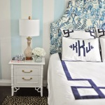 Navy Key Bedding in a Palm Beach chic nursery