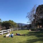 Yoga retreat in fire damaged Ojai
